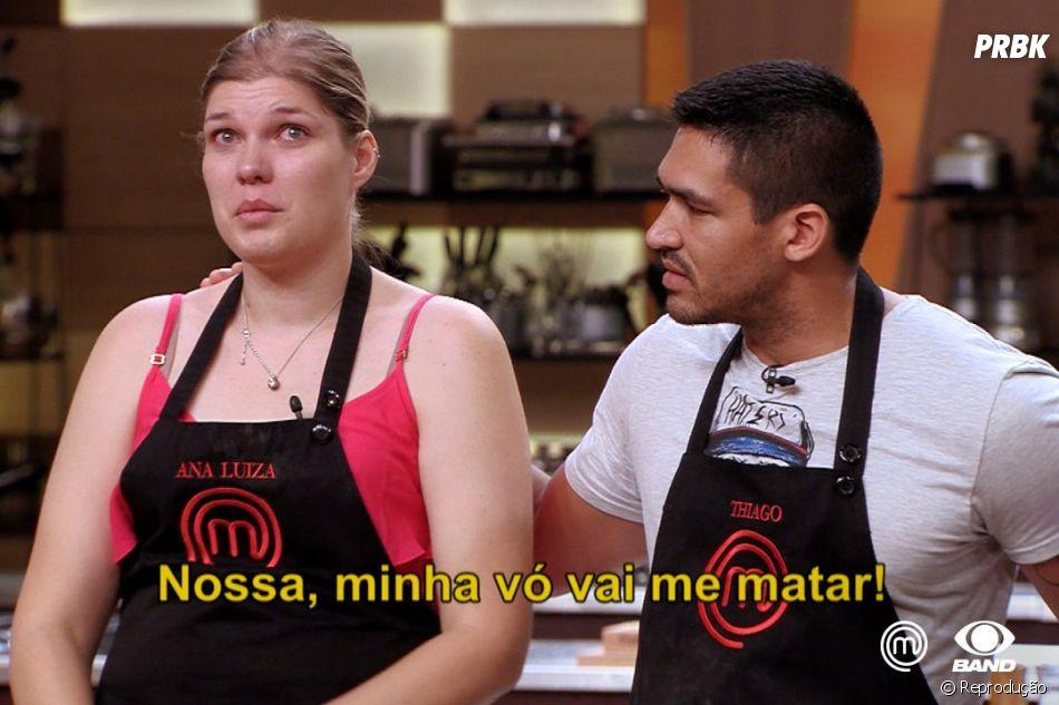 """""""MasterChef Brasil"""": participante viraliza com meme """"nossa, minha vó vai me matar"""""""