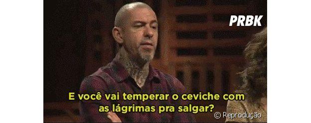 """""""MasterChef Brasil"""": Henrique Fogaça viraliza com meme """"e você vai temperar o ceviche com as lágrimas pra salgar"""""""