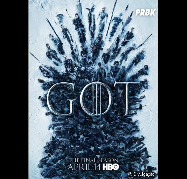 """""""Game of Thrones"""" ganha pôster com cadáveres e novo teaser da 8ª e última temporada!"""
