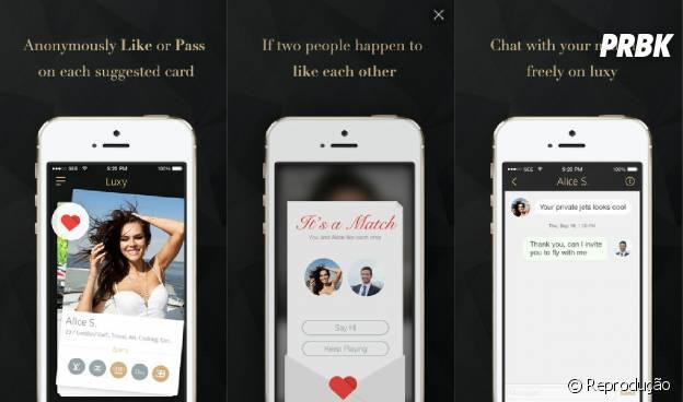 Similar ao Tinder, o aplicativo tem ferramentas exclusivas para quem curte uma vida luxuosa