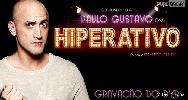 """Paulo Gustavo grava DVD do espetáculo """"Hiperativo"""" no dia em que completa 36 anos de idade"""
