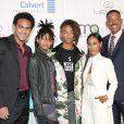 Essa é a família Smith completa: Trey, Willow, Jaden, Jada e Will