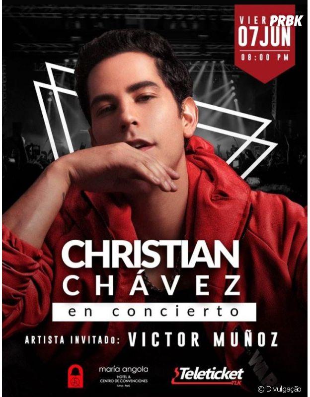 Christian Chávez cancelou o show com ex-RBD e não deu muita satisfação para o público