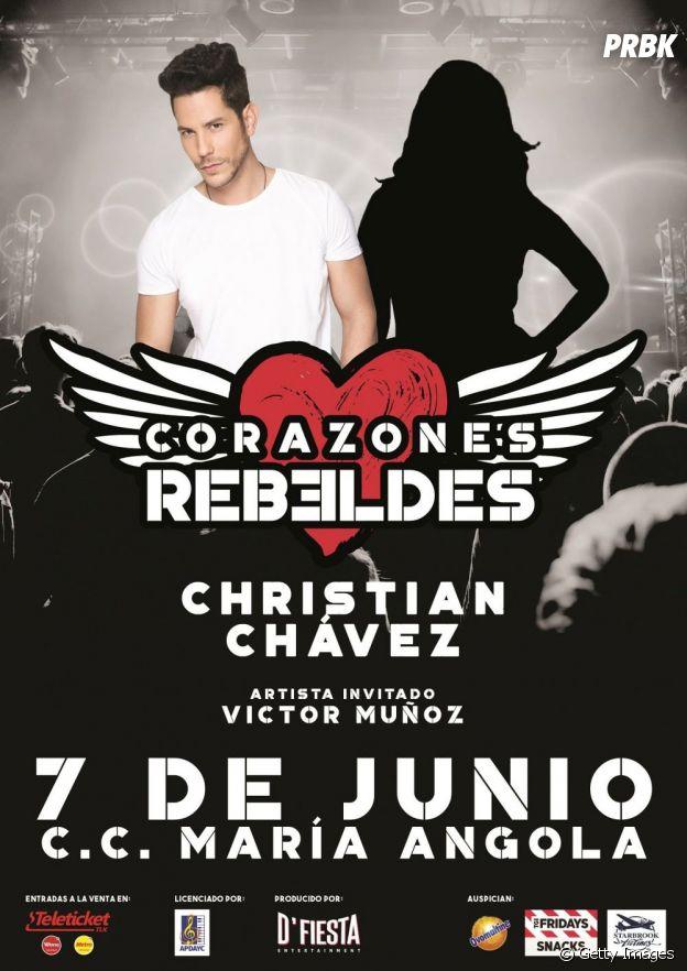 Christian Chávez havia anunciado show com outra integrante do RBD em maio de 2019