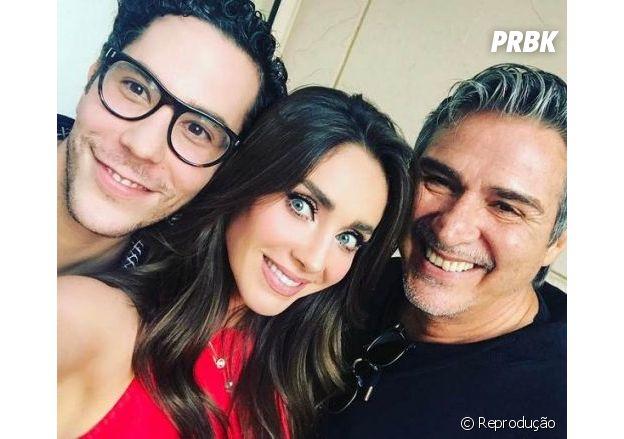 Anahi, Christian Chávez e Pedro Damián se encontraram em 2017, mas ninguém nunca soube o motivo