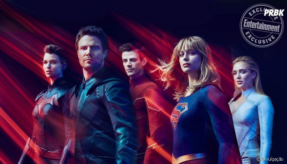 """""""Arrow"""", """"The Flash"""", """"Supergirl"""", """"Legengs of Tomorrow"""" e """"Batwoman"""" se encontram em grande crossover"""