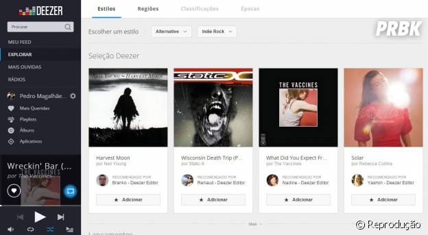 Descubra novos artistas explorando em Deezer