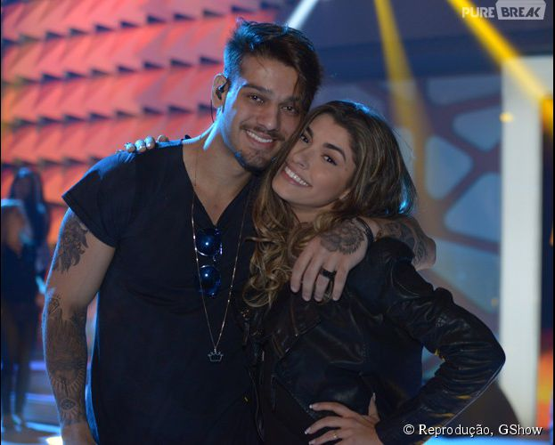 Lucas lucco e ana paula guedes posam juntos nos bastidores for Muralha e sua namorada
