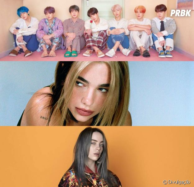 "BTS, Dua Lipa e Billie Eilish são convidados para especial de quarentena do ""The Late Late Show"""