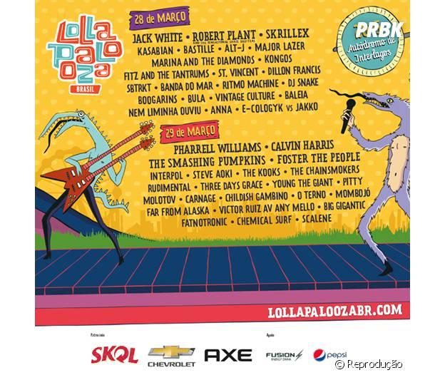 Lollapalooza divulga seu line-up completo e venda de ingressos começa nesta sexta-feira (28)