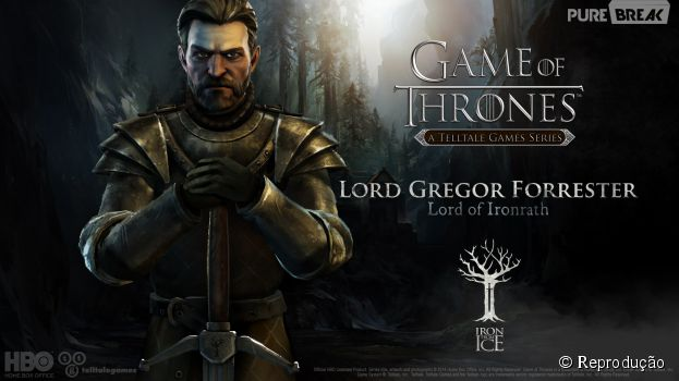 "Lord Gregor Forrester é o manda-chuva da Casa Forrester no jogo ""Game of Thrones"""
