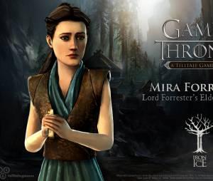 """Mira Forrester é a filha mais velha da Casa no jogo """"Game of Thrones"""""""