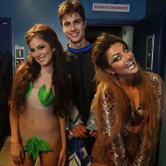 """Novela """"Malhação"""": Bianca, Jade e Lírio usam fantasias ousadas em gravação!"""