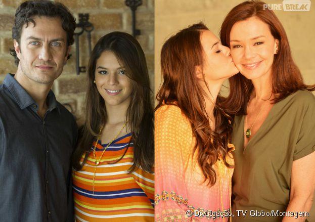 """Na novela """"Em Família"""", Luiza (Bruna Marquezine) pegou o ex-noivo da própria mãe!"""