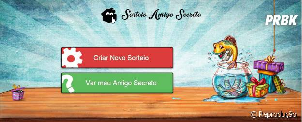 """""""Sorteio Amigo Secreto"""": O cadastro pode ser feito usando o perfil do Facebook"""
