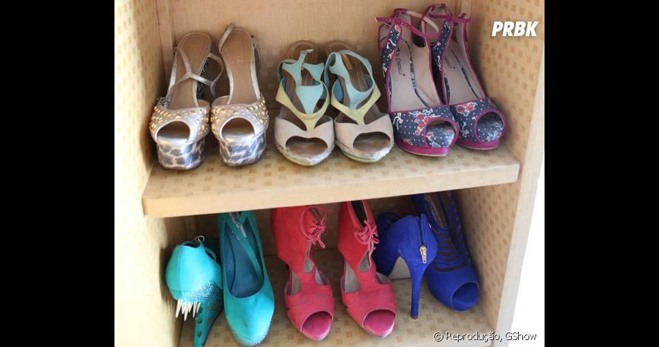 Os presentes dividem espaço em meio aos vários sapatos de Anitta ... fc5764f94f