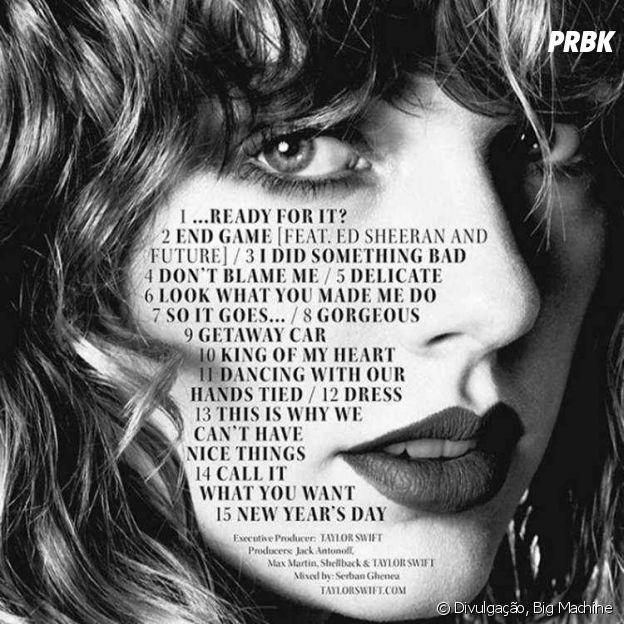 "Taylor Swift: tracklist de ""reputation"" sugere divisão"