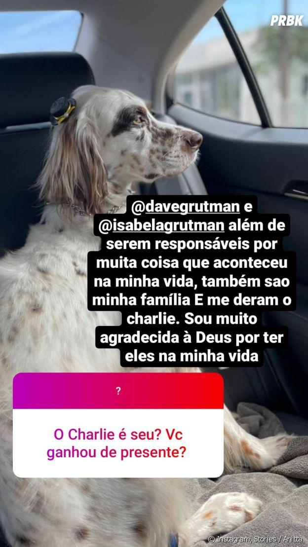 Anitta ganha companhia de novo pet, o Charlie, em Miami