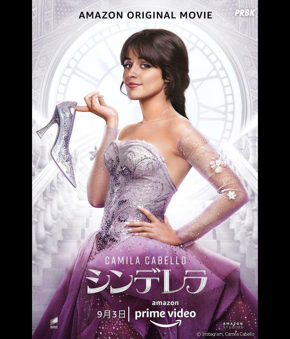 """Camila Cabello aparece segurando sapatinho de cristal em poster vazado de """"Cinderella"""""""
