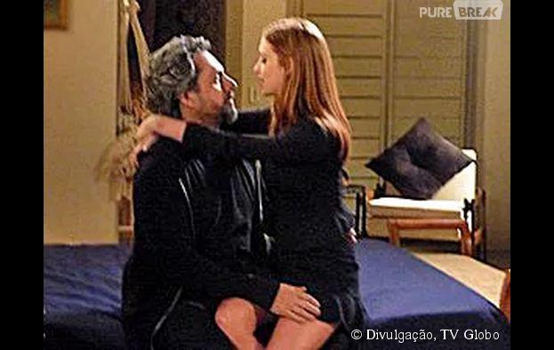 """Em """"Império"""", Maria Isis (Marina Ruy Barbosa) e José Alfredo (Alexandre Nero) terão noite de amor emocionante"""