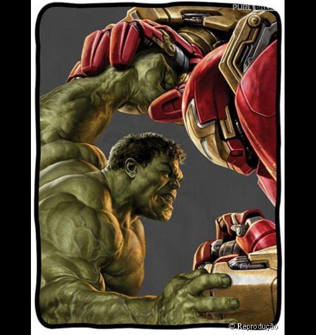 """Os super-heróis Hulk e Homem de Ferro aparecem nas novas artes de """"Os Vingadores 2"""""""