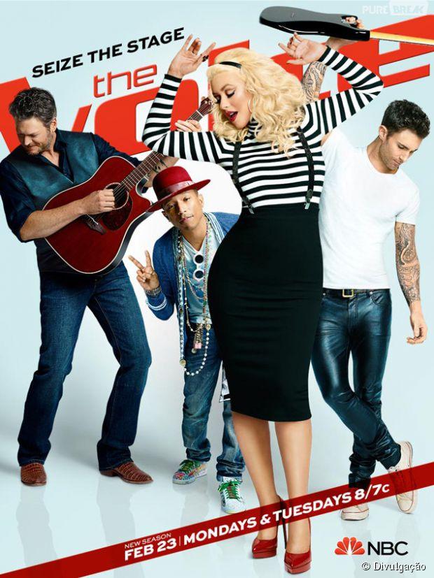 """Christina Aguilera aparece em pôster da nova temporada """"The Voice US"""""""