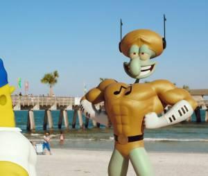 """Em """"Bob Esponja - Um Herói Fora D'Água"""", Plankton tenta roubar a fórmula do hambúrguer de siri"""