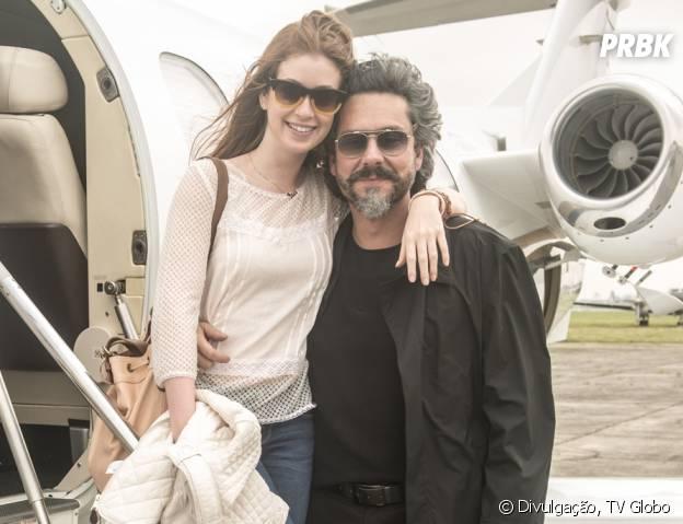 """Maria Isis (Marina Ruy Barbosa) vai morar com José Alfredo (Alexandre Nero) na mansão em """"Império"""""""