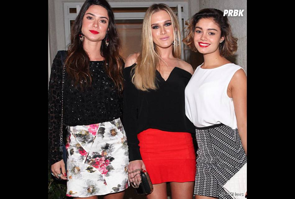 As atrizesThaila Ayala, Fiorella Matheis e Sophie Charlotte são amigas de longa data