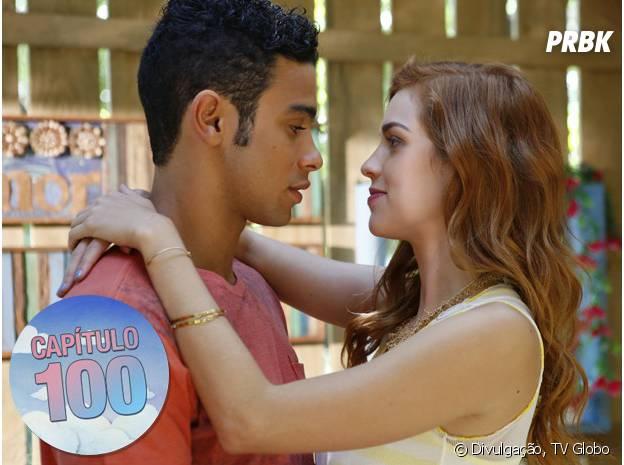 """Gaby (Sophia Abrahão) e Emerson (Sérgio Malheiros) se declaram um para o outro em """"Alto Astral"""""""