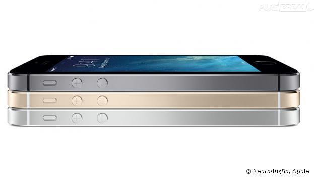 iPhone 5s lançado em versão preta, prata e dourada