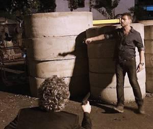 "José Alfredo (Alexandre Nero) dá tiro em Maurílio (Carmo Della Vecchia) na novela ""Império"""