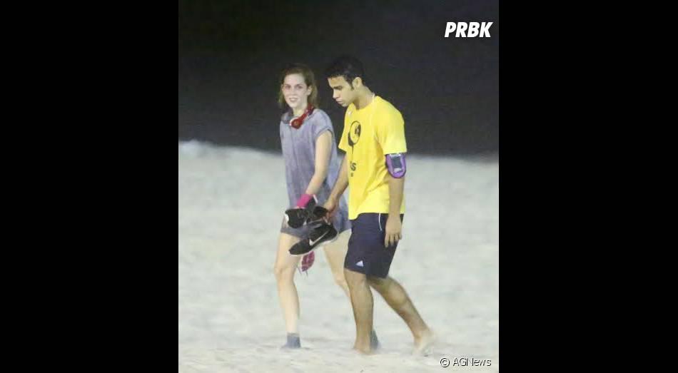 Sophia Abrahão e Sérgio Malheiros correm em praia do Rio de Janeiro