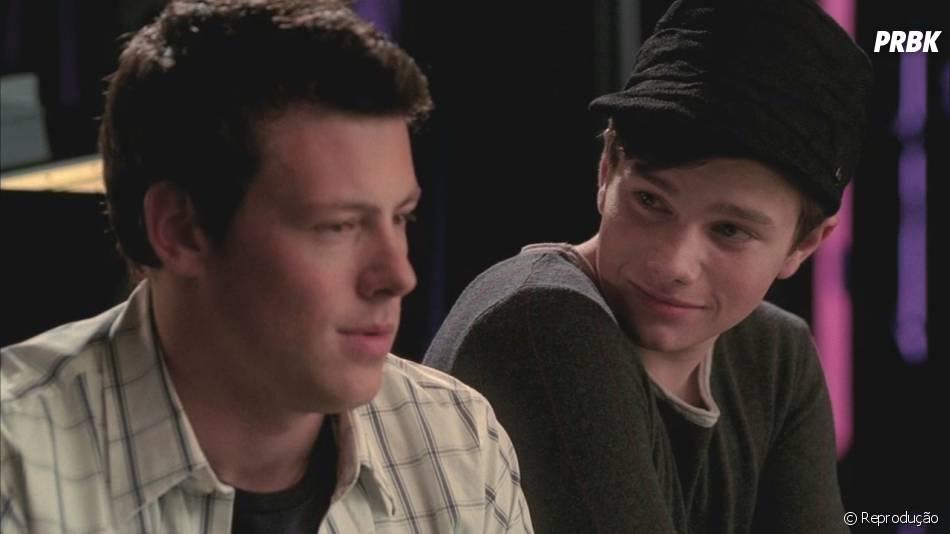 """A amizade entre Finn (Cory Monteith) e Kurt (Chris Colfer) também rendeu momentos lindos em """"Glee"""""""