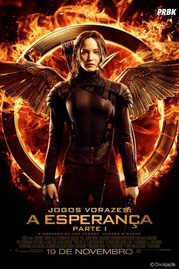 """Jennifer Lawrence aparece pela 1ª vez como Katniss no filme """"Jogos Vorazes - A Esperança"""""""