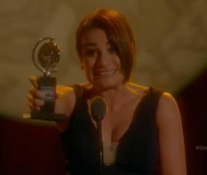 """Em """"Glee"""", Rachel (Lea Michele) ganhou o prêmio que sempre sonhou"""
