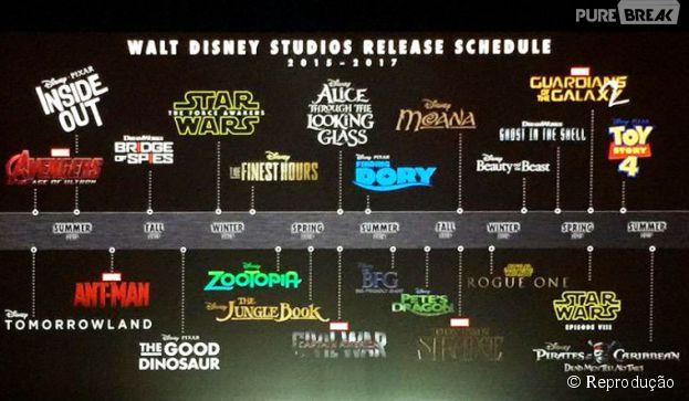 Para a alegria de muita gente, a Disney divulgou seu calendário de estreias até 2017!