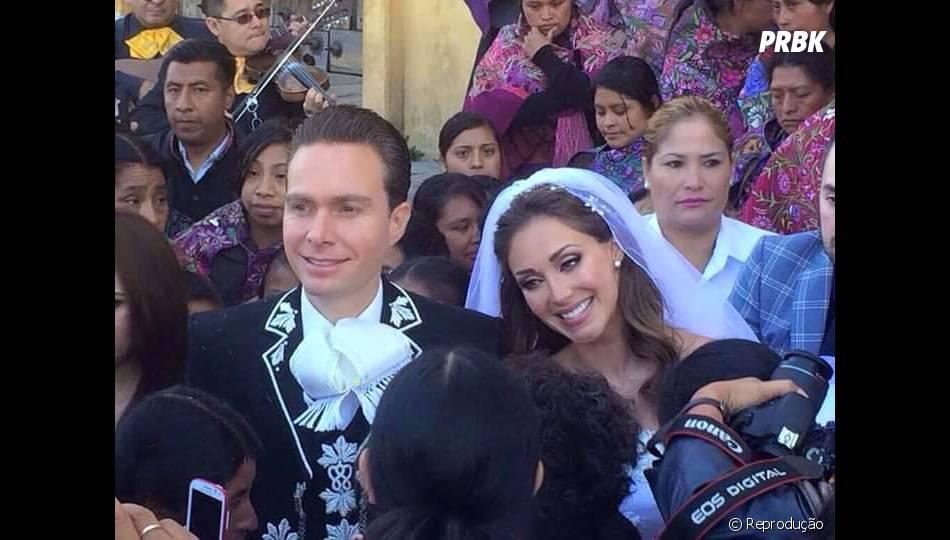 Anahí casou com Manuel Velasco nesse último sábado (25)
