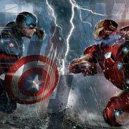 """De """"Capitão América 3"""": Capitão América e Homem de Ferro brigam em primeira arte do filme!"""