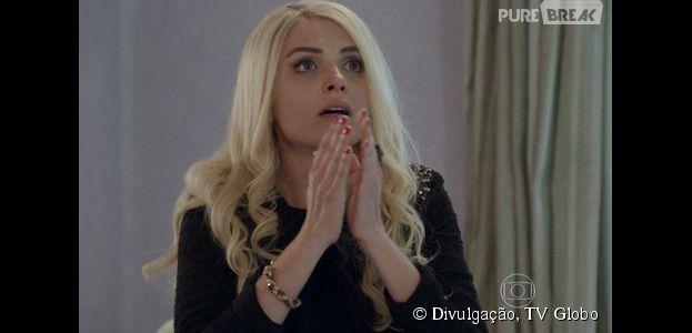 """Scarlett (Monica Iozzi) fica triste pela prisão deAdriana (Totia Meirelles), mas tem uma ótima surpresa em """"Alto Astral"""", da Globo"""