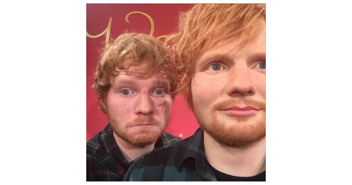62e891eeaa417 Ed Sheeran ganha estátua de cera no Museu Madame Tussauds! - Purebreak