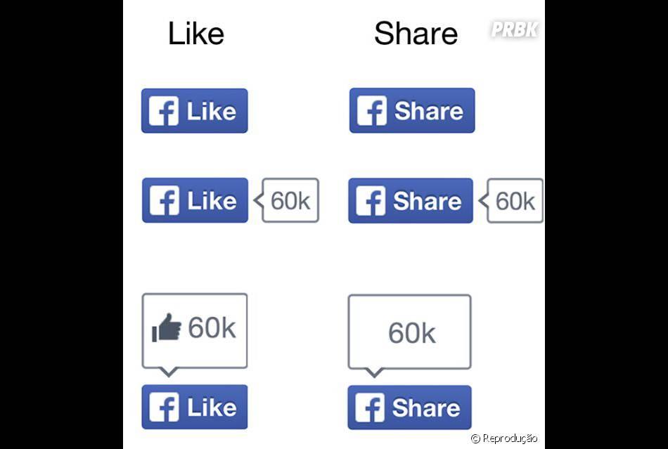 """Estes são os novos botões """"curtir"""" e """"compartilhar"""". Só um tem o joinha #chatiado"""