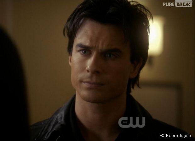 """Em """"The Vampire Diaries"""", será que Damon (Ian Somerhalder) vai ficar com a nova personagem?"""