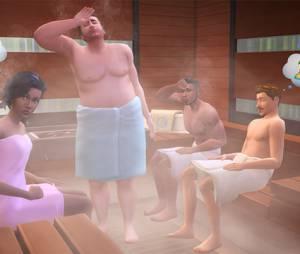 """Os Sims poderão fazer Oba-Oba na sauna em """"The Sims 4: Dia de Spa"""""""