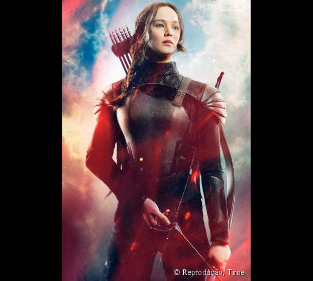 "Jennifer Lawrence dá vida à mocinha Katniss na franquia ""Jogos Vorazes"""