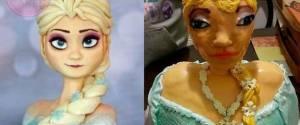 """Bolo """"feio"""" da Elsa de """"Frozen"""", que viralizou na Internet, tinha uma emocionante história"""
