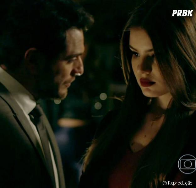 """Em """"Verdades Secretas"""", Alex (Rodrigo Lombardi) fala que só casou para ficar perto de Angel (Camila Queiroz)"""