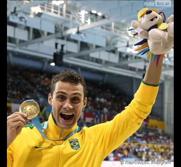 Os meninos da natação brilharam nos Jogos Pan-Americanos Toronto 2015, Leonardo de Deus e sua medalha de ouro