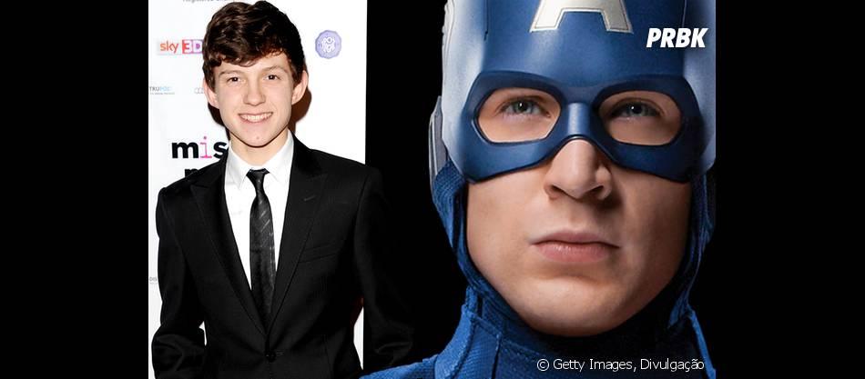 """Tom Holland, o novo Homem-Aranha da Marvel, e Chris Evans vão dividir a cena em """"Capitão América 3"""""""
