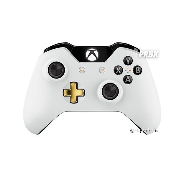 Controle Lunar White para Xbox One oferece uma cor diference do pretinho tradicional